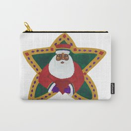 African American Santa Claus Carry-All Pouch
