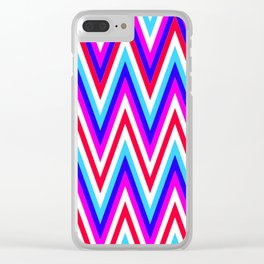 Zig Zags Clear iPhone Case