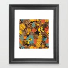 The bee. Framed Art Print