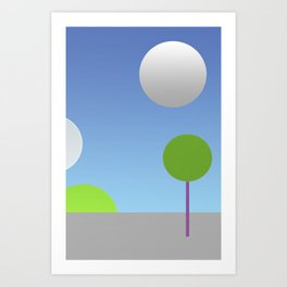 New moons Art Print