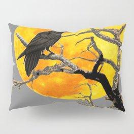 FULL MOON & RAVEN ON DEAD TREE Pillow Sham