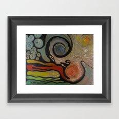 earth, air, fire, water Framed Art Print
