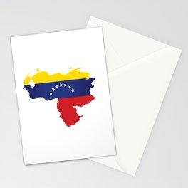 Venezuela - venezuelan heart - flag design Stationery Cards