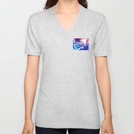 The birth of a star abstract painting Unisex V-Neck