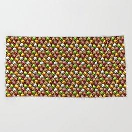 Metallic Beads Pattern Beach Towel