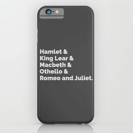 Shakespeare Plays I iPhone Case