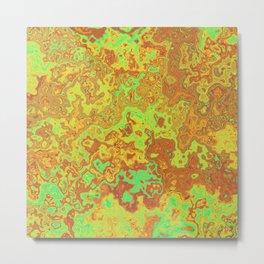 Vibrant Swirls Metal Print