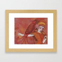 Huo: Vermillion Bird Framed Art Print