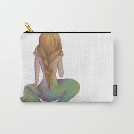 Yellow Haired Mermaid Carry-All Pouch