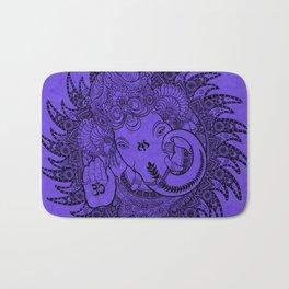 Ganesha Lineart Lilac Bath Mat