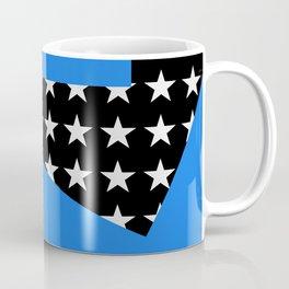 Paper Thin Stencil | Blue by Kimberly J Graphics Coffee Mug