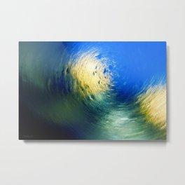 Condensation 34 - Vortex | Cyan Metal Print