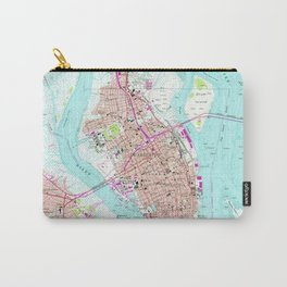 Vintage Map of Charleston South Carolina (1958) Carry-All Pouch