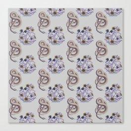 Snake N' Flowers Canvas Print
