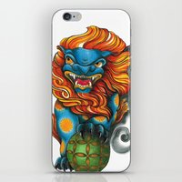foo fighters iPhone & iPod Skins featuring Foo Dog by missfortunetattoo