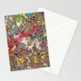 Abstract Acrylic Palette Knife painting Stationery Cards