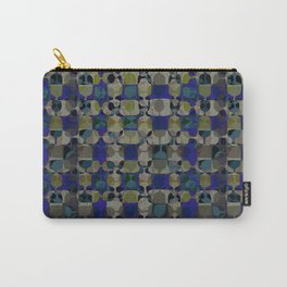 Mid Century Geometry Electric Blue Carry-All Pouch