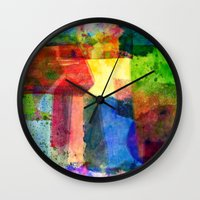 water color Wall Clocks featuring water color by Pao Designs
