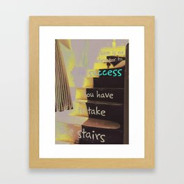 STAIRS TO SUCCESS Framed Art Print