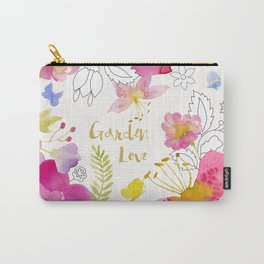 Garden Love watercolor floral Carry-All Pouch