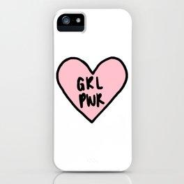 girl power heart iPhone Case