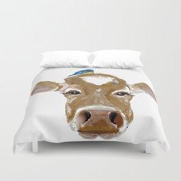 Bluebird Cow Duvet Cover