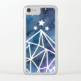 Watercolor galaxy Night Court - ACOTAR inspired Clear iPhone Case