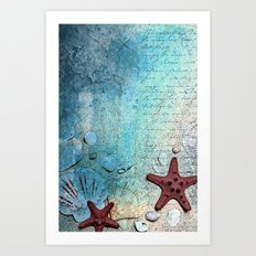 Written in the sand Art Print