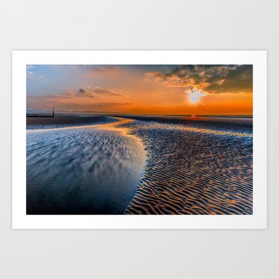 Seashore Sunset Art Print