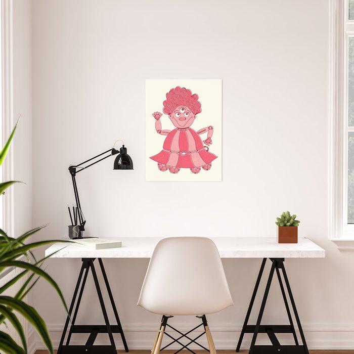 Robot Alien Monster No 049 Poster