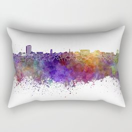 Ann Arbor skyline in watercolor background Rectangular Pillow