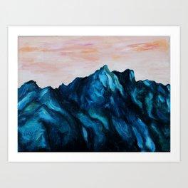 Melting Rocks Art Print