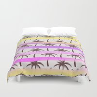 palm trees Duvet Covers featuring Palm Trees by Ornaart