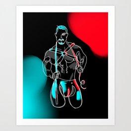 lonniedraws x skyy knox Art Print