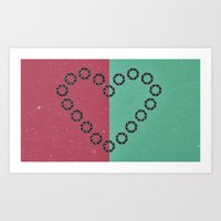 aperture Art Prints featuring aperture heart by lizbee