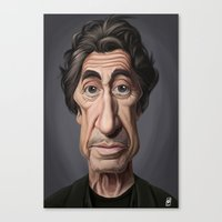 celebrity Canvas Prints featuring Celebrity Sunday ~ Al Pacino by rob art | illustration