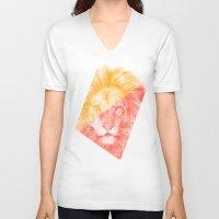 eric fan V-neck T-shirts featuring Wild 3 - by Eric Fan and Garima Dhawan by Eric Fan