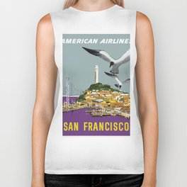 Vintage Travel Poster - San Francisco Biker Tank
