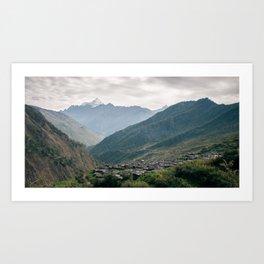 Gatlang Village, Nepal  Art Print