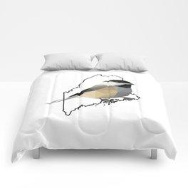 Maine – Black-Capped Chickadee Comforters