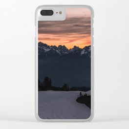Rising Sun in the Cascades - nature photography Clear iPhone Case