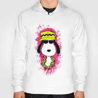 snoopy Hoodies featuring Snoopy Dog by Mateus Quandt