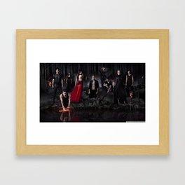 The Vampire Diaries Cast Framed Art Print