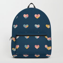 Heart Collage Blue Backpack