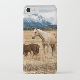 Mountain Horse - Western Style in the Grand Tetons iPhone Case