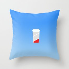 Low Batteries nedd coffee Throw Pillow