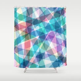 Lazer Dance Pastel Shower Curtain