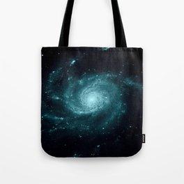 Spiral gALAxy Teal Tote Bag