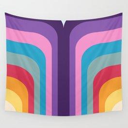 Retro Rainbow 02 Wall Tapestry