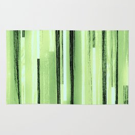 Green Black Purple Stripes Rug